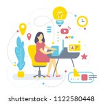 vector illustration of woman ... | Shutterstock .eps vector #1122580448