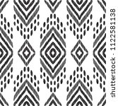 tribal seamless pattern. black... | Shutterstock .eps vector #1122581138
