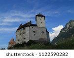 gutenberg castle in balzers... | Shutterstock . vector #1122590282