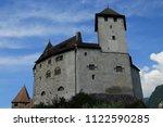 gutenberg castle in balzers... | Shutterstock . vector #1122590285