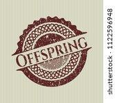 red offspring distress rubber...   Shutterstock .eps vector #1122596948