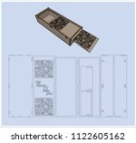 laser cutting box. without... | Shutterstock .eps vector #1122605162