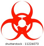 red biohazard warning sign or... | Shutterstock .eps vector #11226073