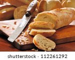 French Bread Baguette Cut On...