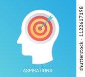 vector aspiration concept.... | Shutterstock .eps vector #1122617198