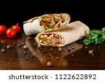 shawarma sandwich gyro fresh... | Shutterstock . vector #1122622892