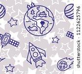 space   star   spaceship  ... | Shutterstock .eps vector #1122625796
