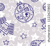 space   star   spaceship  ... | Shutterstock .eps vector #1122625802