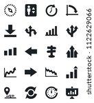 set of vector isolated black... | Shutterstock .eps vector #1122629066