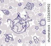 space   star   spaceship  ...   Shutterstock .eps vector #1122630902