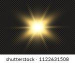 yellow glowing light burst...   Shutterstock .eps vector #1122631508