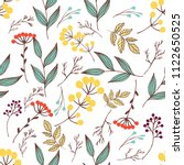 abstract seamless simple floral ...   Shutterstock . vector #1122650525