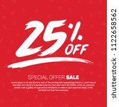 25 percent off  sale special... | Shutterstock .eps vector #1122658562