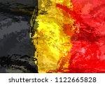 belgian grunge flag. flag with...   Shutterstock .eps vector #1122665828