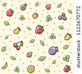 fresh fruit pattern with... | Shutterstock .eps vector #1122670772