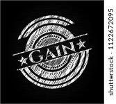 gain written on a blackboard   Shutterstock .eps vector #1122672095