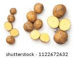 Fresh Organic Potatoes Isolated ...