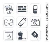premium outline  fill icons set ...   Shutterstock .eps vector #1122672848