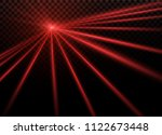 abstract red laser beam.... | Shutterstock .eps vector #1122673448