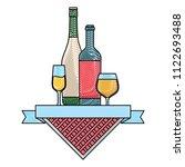 picnic emblem design | Shutterstock .eps vector #1122693488