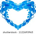 vector heart shape made with... | Shutterstock .eps vector #1122693965