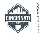 cincinnati ohio travel stamp... | Shutterstock .eps vector #1122706568