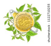 nettle tea illustration | Shutterstock .eps vector #1122710255