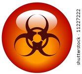 red biohazard logo on red... | Shutterstock .eps vector #11227222