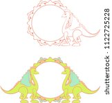 fairytale round frame with... | Shutterstock .eps vector #1122725228