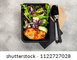 healthy meal prep containers... | Shutterstock . vector #1122727028