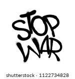 Sprayed Stop War Font Graffiti...