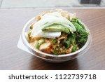 hawaiian ahi tuna poke bowl at... | Shutterstock . vector #1122739718