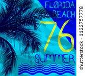 summer beach vector background... | Shutterstock .eps vector #1122757778