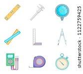 reconstruct icons set. cartoon... | Shutterstock . vector #1122759425