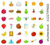 natural ration icons set.... | Shutterstock . vector #1122759602