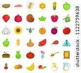 edible icons set. cartoon set... | Shutterstock . vector #1122759638