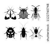 set of different insects on... | Shutterstock .eps vector #1122760748