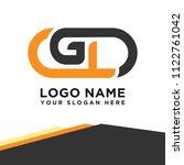 gl initial logo template vexctor | Shutterstock .eps vector #1122761042