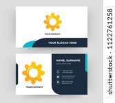 cogwheel  business card design... | Shutterstock .eps vector #1122761258