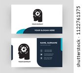 cogwheel  business card design... | Shutterstock .eps vector #1122761375