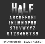 halftone alphabet font template.... | Shutterstock .eps vector #1122771662