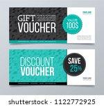 gift voucher template design... | Shutterstock .eps vector #1122772925
