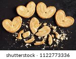 palmiers  whole and broken puff ...   Shutterstock . vector #1122773336