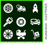 set of 9 transport filled icons ... | Shutterstock .eps vector #1122792425