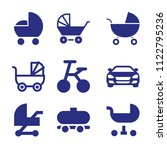 set of 9 transport filled icons ... | Shutterstock .eps vector #1122795236