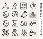 set of 16 people outline icons... | Shutterstock .eps vector #1122800078