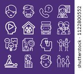set of 16 people outline icons... | Shutterstock .eps vector #1122800552