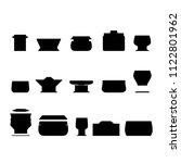 crockery pan urns vector...   Shutterstock .eps vector #1122801962