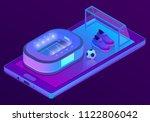 vector 3d isometric ultraviolet ... | Shutterstock .eps vector #1122806042