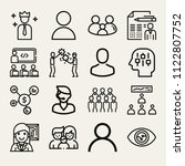 set of 16 people outline icons... | Shutterstock .eps vector #1122807752